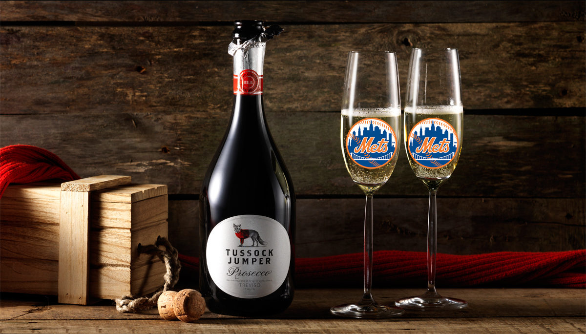 Tussock Jumper Wine Prosecco Citi Field New York Mets
